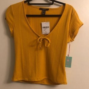 Forever 21 yellow tee